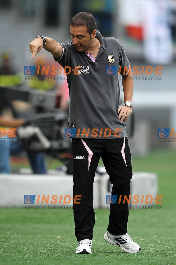 """Denis MANGIA Allenatore del Palermo.Roma 25/9/2011 Stadio """"Olimpico"""".Football Calcio Serie A 2011/2012.Lazio Vs Palermo.Foto Insidefoto Andrea Staccioli"""