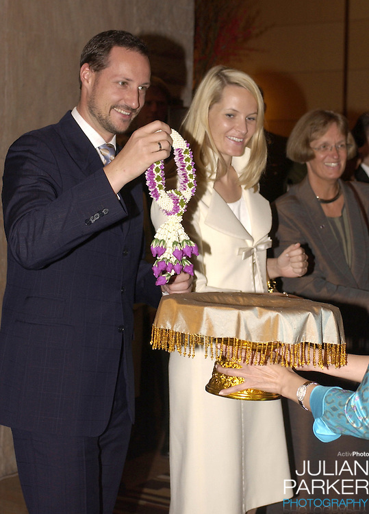 Crown Prince Haakon & Crown Princess Mette-Marit of Norway's visit to Thailand..Attending a Telenor/DTAC presentation at the Conrad Hotel, Bangkok..