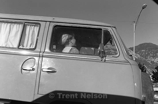 Frieda Mansfield in her dad's van.<br />