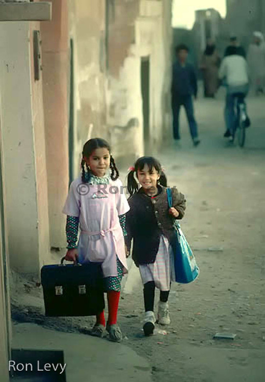 Girls going to school, Tangier, Morocco