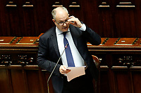 Italian Minister of Economy Roberto Gualtieri during the Premier speech about the European Council at the Chamber of Deputies. Rome (Italy), July 22nd 2020<br /> Foto Samantha Zucchi Insidefoto