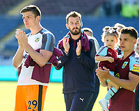Burnley's Nick Pope applauds the fans during a lap of the pitch <br /> <br /> Photographer Alex Dodd/CameraSport<br /> <br /> The Premier League - Burnley v Bournemouth - Sunday 13th May 2018 - Turf Moor - Burnley<br /> <br /> World Copyright &copy; 2018 CameraSport. All rights reserved. 43 Linden Ave. Countesthorpe. Leicester. England. LE8 5PG - Tel: +44 (0) 116 277 4147 - admin@camerasport.com - www.camerasport.com