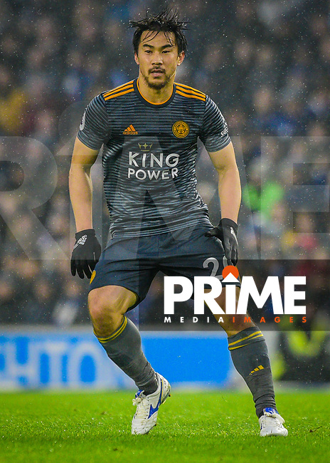 Shinji Okazaki of Leicester City (20) during the Premier League match between Brighton and Hove Albion and Leicester City at the American Express Community Stadium, Brighton and Hove, England on 24 November 2018. Photo by Edward Thomas / PRiME Media Images.