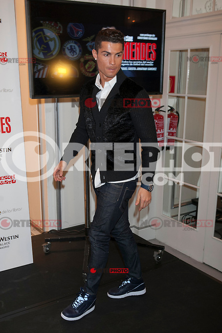 Real Madrid&acute;s Cristiano Ronaldo attends Jorge Mendes&acute;s book presentation in Madrid, Spain. January 22, 2015. (ALTERPHOTOS/Victor Blanco) /NortePhoto<br /> NortePhoto.com