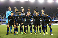 San Jose, CA - Saturday September 16, 2017: San Jose Earthquakes Starting Eleven prior to a Major League Soccer (MLS) match between the San Jose Earthquakes and the Houston Dynamo at Avaya Stadium.