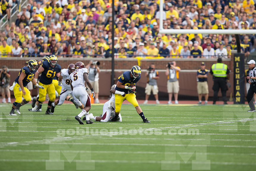 The University of Michigan football team beat Central Michigan University, 59-9, at Michigan Stadium in Ann Arbor, Mich. on August 31, 2013.