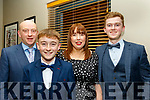 Pictured at the Kilmoyley GAA annual social held in the Ballyroe Heights hotel, Tralee last Saturday night were L-R Tom, Thomás, Catherine and David Godley