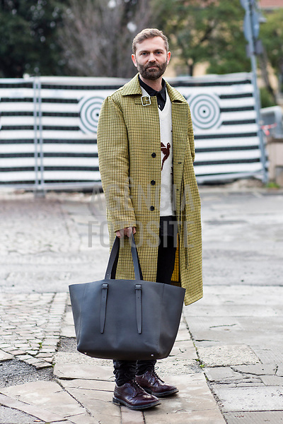 Florence Pitti Uomo Mens Fashion Week Street Style - January 10 2018 - Fall Winter 2018