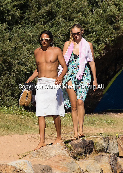 12 MARCH 2016 SYDNEY AUSTRALIA<br /> <br /> EXCLUSIVE PICTURES<br /> <br /> Gemma Ward pictured at the beach wth her partner David Letts