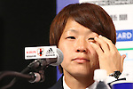 Aya Miyama (JPN), <br /> JULY 7, 2015 - Football / Soccer : <br /> Japanese women's national football team captain Aya Miyama attends a press conference after arriving in Chiba, Japan. <br /> Japan lost the FIFA Women's World Cup Canada 2015 Final match against United States on July 5.<br /> (Photo by Shingo Ito/AFLO SPORT)