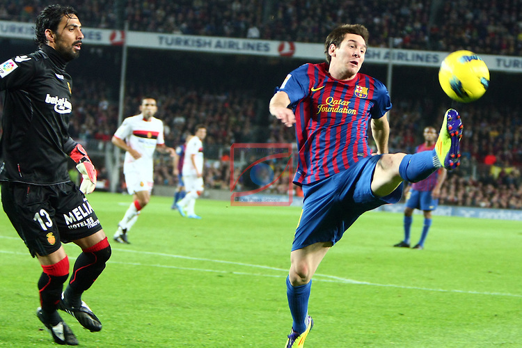 Lionel Messi. FC Barcelona vs RCD Mallorca: 5-0 (League BBVA 2011/12 - Game: 11).