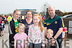 Roisin Collins with her family at the walk in Farranfore on Saturday l-r: Ciara, Leanne, Ann, Roisin, Tim and Shane Collins