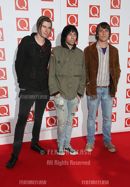 The Cribs arriving for The Q Awards 2012 held at the Grosvenor Hotel, London. 22/10/2012 Picture by: Henry Harris / Featureflash