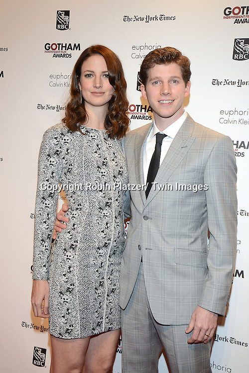 Stark Sands and wife Gemma Clarke attends the 23rd Annual Gotham Independent Film Awards on December 2, 2013 at Cipriani Wall Street in New York City.