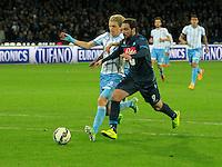 Gonzalo Higuain Basta  durante l'incontro di ritorno della semifinale  Tim Cup tra     Napoli - Lazio allo  Stadio San Paolo  di Napoli ,08 Aprile  2015