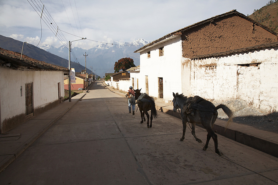 Small town of Cachora, Apurimac, Peru, starting point of the trek to the remote Incan ruins of Choquequirao.