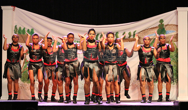 Delta Sigma Theta won the women's portion of the step show, put on as a part of Homecoming Week at the University of Kentucky on Friday, Oct. 21, 2011, in Lexington, Ky. Photo by Latara Appleby | Staff ..
