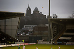 The Thomas Coats Memorial Church and Coats Observatory visible during the first-half at the Paisley2021 Stadium as Scottish Championship side St Mirren (in white) played Welsh champions The New Saints in the semi-final of the Scottish Challenge Cup for the right to meet Dundee United in the final. The competition was expanded for the 2016-17 season to include four clubs from Wales and Northern Ireland as well as Scottish Premier under-20 teams. Despite trailing at half-time, St Mirren won the match 4-1 watched by a crowd of 2044, including 75 away fans.