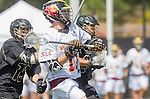 Orange, CA 05/17/14 - Nick Hillier (Arizona State #11) and Sean Crane (Colorado #13) in action during the 2014 MCLA Division I Men's Lacrosse Championship game between Arizona State and Colorado at Chapman University in Orange, California.  Colorado defeated Arizona State 13-12.