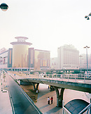 CHINA, Macau, Asia, Elevated road with Sands Macao Hotel, Grand Lapa Hotel and Mandarin Oriental in the background