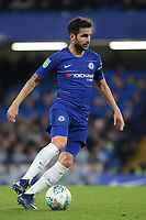 Cesc Fabregas of Chelsea in action during Chelsea vs Derby County, Caraboa Cup Football at Stamford Bridge on 31st October 2018
