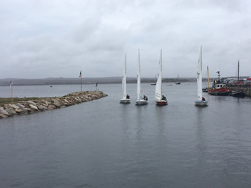 Flying Fifteen sailing takes place in Casla Bay from Sruthan pier