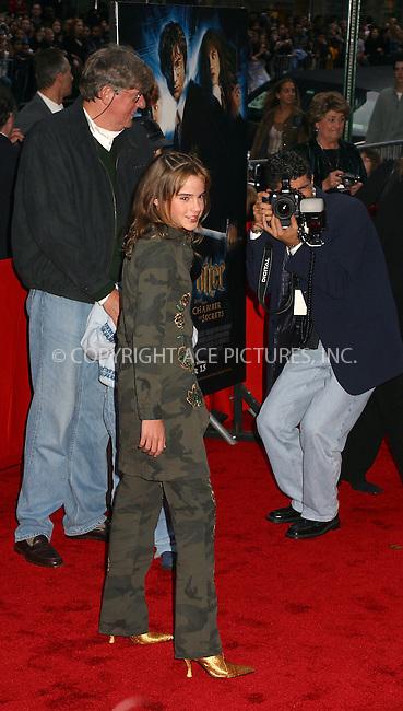 "Emma Watson arriving at the New York Premiere of ""Harry Potter And The Chamber of Secrets."" New York, November 10, 2002. Please byline: Alecsey Boldeskul/NY Photo Press.   ..*PAY-PER-USE*      ....NY Photo Press:  ..phone (646) 267-6913;   ..e-mail: info@nyphotopress.com"