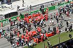15.04.2018, Shanghai Audi International Circuit, Shanghai, 2018 FORMULA 1 HEINEKEN CHINESE GRAND PRIX, 12.04. - 15.04.2018<br /> im Bild<br />Startaufstellung<br />Sebastian Vettel (GER#5), Scuderia Ferrari, Kimi Raikkonen (FIN#7), Scuderia Ferrari<br /> <br /><br /> <br /> Foto &copy; nordphoto / Bratic