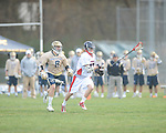 Ole MIss' Barron Mundorf (17) vs. Georgia Tech's Michael Stapleton (8) in lacrosse at the Ole Miss Intramural Fields in Oxford, Miss. on Saturday, February 2, 2013. Georgia Tech won 8-5.