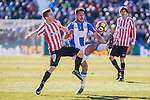 Atletic de Bilbao's Iker Muniain, Club Deportivo Leganes's Gabriel Appelt Pires during the match of La Liga between Leganes and Athletic Club at Butarque Stadium  in Madrid , Spain. January  14, 2017. (ALTERPHOTOS/Rodrigo Jimenez)