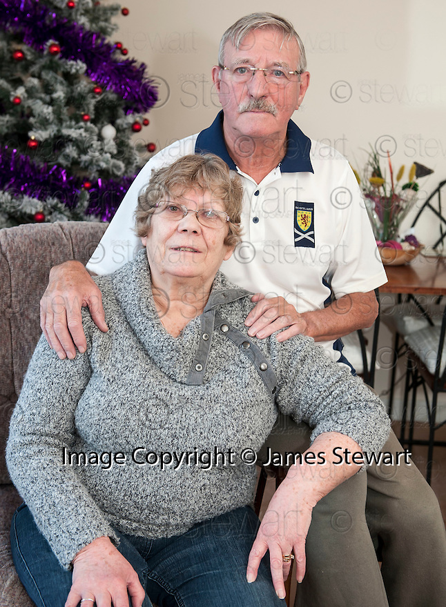 Jean and Eddie Leishman, neighbours of Pauline Cafferkey, the scots nurse being treated for Ebola. (David Wynn Story).