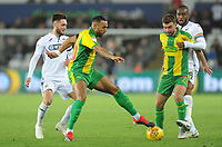 West Bromwich Albion's Matt Phillips under pressure from Swansea City's Matt Grimes<br /> <br /> Photographer Kevin Barnes/CameraSport<br /> <br /> The EFL Sky Bet Championship - Swansea City v West Bromwich Albion - Wednesday 28th November 2018 - Liberty Stadium - Swansea<br /> <br /> World Copyright © 2018 CameraSport. All rights reserved. 43 Linden Ave. Countesthorpe. Leicester. England. LE8 5PG - Tel: +44 (0) 116 277 4147 - admin@camerasport.com - www.camerasport.com