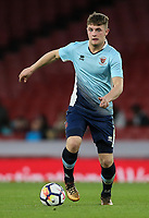 Blackpool U18's Jack Newton<br /> <br /> Photographer Andrew Kearns/CameraSport<br /> <br /> Emirates FA Youth Cup Semi- Final Second Leg - Arsenal U18 v Blackpool U18 - Monday 16th April 2018 - Emirates Stadium - London<br />  <br /> World Copyright &copy; 2018 CameraSport. All rights reserved. 43 Linden Ave. Countesthorpe. Leicester. England. LE8 5PG - Tel: +44 (0) 116 277 4147 - admin@camerasport.com - www.camerasport.com