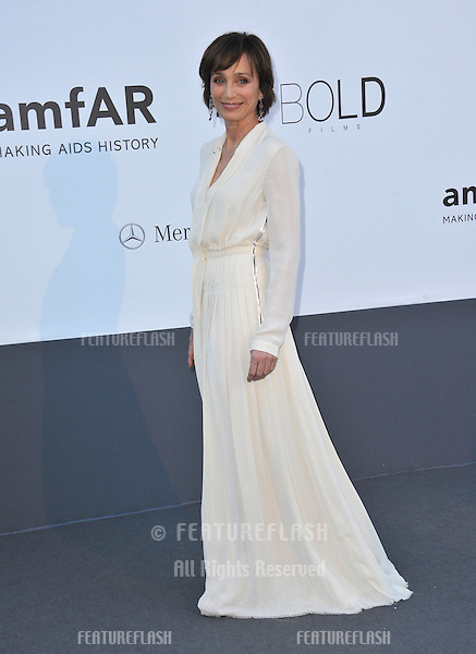 Kristin Scott Thomas at amfAR's 20th Cinema Against AIDS Gala at the Hotel du Cap d'Antibes, France.May 23, 2013  Antibes, France.Picture: Paul Smith / Featureflash