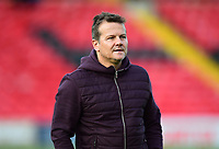 Forest Green Rovers manager Mark Cooper during the pre-match warm-up<br /> <br /> Photographer Andrew Vaughan/CameraSport<br /> <br /> The EFL Sky Bet League Two - Lincoln City v Forest Green Rovers - Saturday 3rd November 2018 - Sincil Bank - Lincoln<br /> <br /> World Copyright &copy; 2018 CameraSport. All rights reserved. 43 Linden Ave. Countesthorpe. Leicester. England. LE8 5PG - Tel: +44 (0) 116 277 4147 - admin@camerasport.com - www.camerasport.com