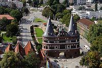 Holstentor (15.Jh.) in Lübeck, Schleswig-Holstein, Deutschland,  Unesco-Weltkulturerbe