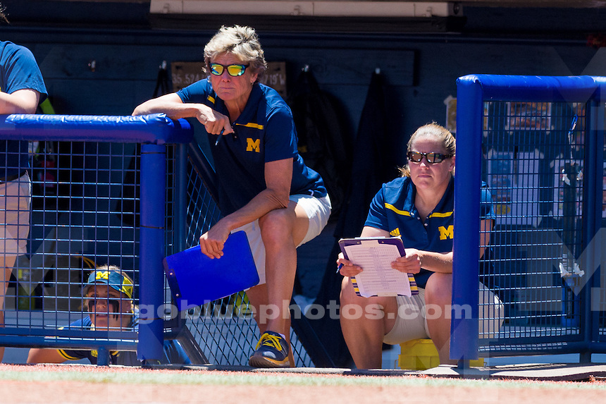 The University of Michigan women's softball team,1-0 loss to Florida State University in Game 3 of the Women's College World Series at the ASA Hall of Fame Stadium in Oklahoma City,Okla. on 6/05/16.