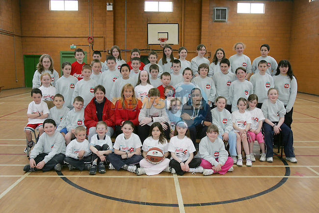 Junior students who took part in the Drogheda Concentrates Sponsored Basketball camp in the Secrt Heart School.Photo NEWSFILE/FRAN CAFFREY..(Photo credit should read FRAN CAFFREY/NEWSFILE)...This Picture has been sent you under the condtions enclosed by:.Newsfile Ltd..the Studio,.Millmount Abbey,.Drogheda,.Co Meath..Ireland..Tel: +353(0)41-9871240.Fax: +353(0)41-9871260.GSM: +353(0)86-2500958.email: pictures@newsfile.ie.www.newsfile.ie.FTP: 193.120.102.198..This picture is from Fran Caffrey@newsfile.ie