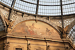 Detail of painting of Vittorio Emanuele II Shopping Gallery, Milan, Italy