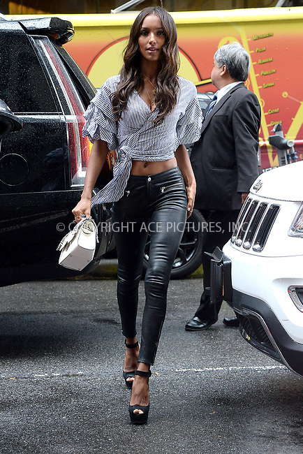 www.acepixs.com<br /> August 29, 2017 New York City<br /> <br /> Jasmine Tookes attending the fittings for the Victoria's Secret Fashion Show 2017 on August 29, 2017 in New York City.<br /> <br /> Credit: Kristin Callahan/ACE Pictures<br /> <br /> <br /> Tel: (646) 769 0430<br /> e-mail: info@acepixs.com