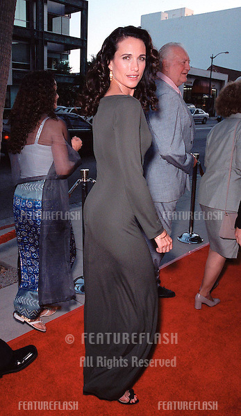 "16AUG99:  Actress ANDIE MacDOWELL at the world premiere, in Beverly Hills, of her new movie ""The Muse"" in which she stars with Sharon Stone..© Paul Smith / Featureflash"