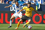 CD Leganes' Nabil El Zhar (l) and Malaga CF's Juankar Perez during La Liga match. February 25,2017. (ALTERPHOTOS/Acero)