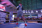 4th October 2017, National Football Museum, Manchester, England; Anthony Crolla and Ricky Burns public workout session; Marcus Morrison during his training session