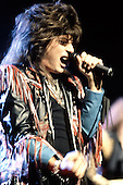 Rising Force - vocalist Joe Lynn Turner - performing live on the Odyssey Tour at the Dominion Theatre, London - 20 Nov 1988.  Photo credit: George Chin/IconicPix