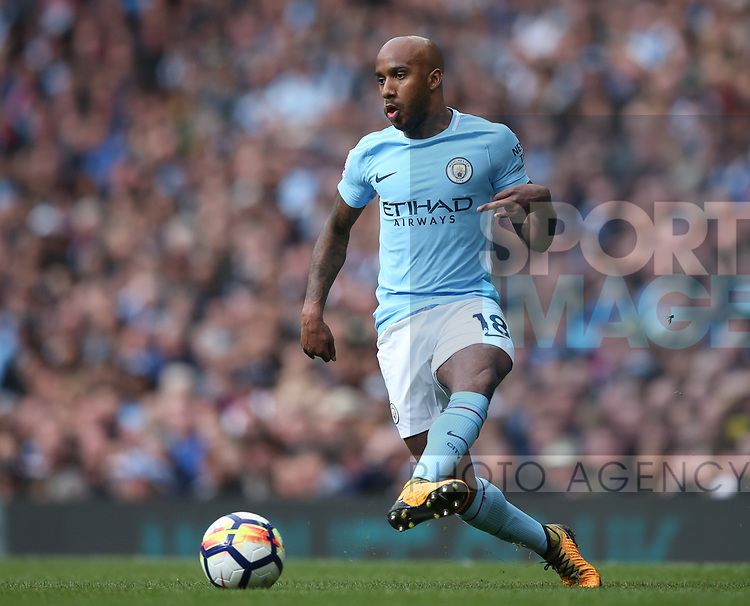 Fabian Delph of Manchester City during the premier league match at the Etihad Stadium, Manchester. Picture date 22nd April 2018. Picture credit should read: Simon Bellis/Sportimage