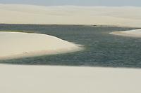 """Lençóis Maranhenses Parque Nacional Instância:  Proteção Integral Área (ha): 155.000 (Decreto - 86.060 - 02/06/1981) Jurisdição Legal: Outros Ano de criação: 1981<br />Órgão gestor: Instituto Chico Mendes de Conservação da Biodiversidade<br /><br />Características<br />Sendo o único deserto brasileiro (cheio de água durante alguns meses do ano), a região chamou a atenção dos pesquisadores do Projeto RADAMBRASIL, que sentiram a necessidade da preservação do local. Desta forma, com base na proposta apresentada pelo projeto para preencher lacunas existentes no então sistema de Unidades de Conservação, que objetiva conservar amostras de toda a diversidade de ecossistemas naturais do País, foi criado o Parque.<br />Aspectos culturais e históricos: O Parque é um celeiro de pescadores, sendo que alguns deles tornam-se nômades em algumas épocas do ano, principalmente no verão que é mais propício a pesca. Existem dois oásis dentro do Parque onde vivem diversas famílias. Suas dunas são móveis provocando muitas vezes soterramento de casas e carros. O nome da unidade é devido à visão que se tem ao observar o Parque do alto, a qual lembra um lençol jogado com desleixo sobre a cama.<br />Clima tropical caracterizado por apresentar uma temperatura média sempre superior a 18°C, e um regime pluviométrico que define duas estações: uma chuvosa e outra seca com um total de precipitação mensal inferior a 60 mm nos meses mais secos.<br />A Oeste predominam as """"rias"""", com formação de praias, manguezais, dunas, restingas e pequenas falésias; a leste do rio Piriá, predominam as formações arenosas. As dunas formam os chamados """"Lençóis"""" do litoral do Maranhão.<br />Vegetação: Na maior parte do Parque não há recobrimento de vegetação. Numa área relativamente pequena aparecem os manguezais, cuja ocorrência está ligada aos solos de várzeas, situando-se não só nas áreas diretamente atingidas pelo mar, mas principalmente acompanhando o curso e braços de rios. Nas Res"""