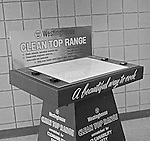 Pittsburgh PA: The Westinghouse Clean Top Electric Range.  On location photography at a Sears Roebuck store at the new Northway Center Mall on McKnight Road in the North Hills