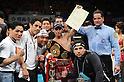 Hugo Cazares (MEX), DECEMBER 23, 2010 - Boxing : Hugo Fidel Cazares of Mexico celebrates with his champion belt after winning the WBA super flyweight title bout at Osaka Prefectural Gymnasium in Osaka, Osaka, Japan. (Photo by Mikio Nakai/AFLO).