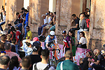 Conor Dunne (IRL) Israel Cycling Academy on the San Luca climb during Stage 1 of the 2019 Giro d'Italia, an individual time trial running 8km from Bologna to the Sanctuary of San Luca, Bologna, Italy. 11th May 2019.<br /> Picture: Eoin Clarke | Cyclefile<br /> <br /> All photos usage must carry mandatory copyright credit (© Cyclefile | Eoin Clarke)