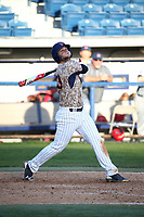 Nick Costello (30) of the Pepperdine Waves bats against the Fresno State Bulldogs at Eddy D. Field Stadium on March 7, 2017 in Los Angeles, California. Pepperdine defeated Fresno State, 8-7. (Larry Goren/Four Seam Images)